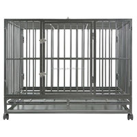 outdoor multiple Sizes Heavy Duty Dog Animal Cage pet house Metal Tray