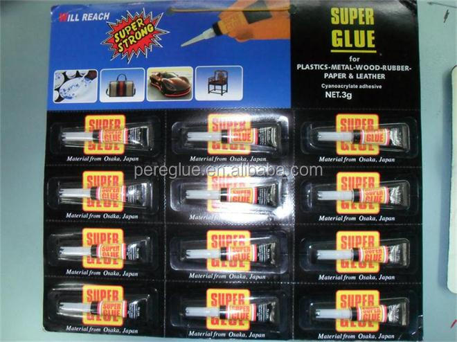 Quick bond household DIY super glue 502 Blister cards 12PCS/card