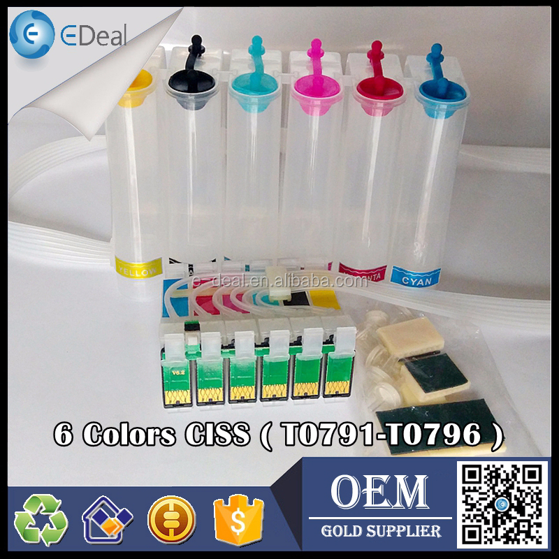 6 color continuous ink supply system for Epson 1400 P50 1500W CISS with auto reset chip