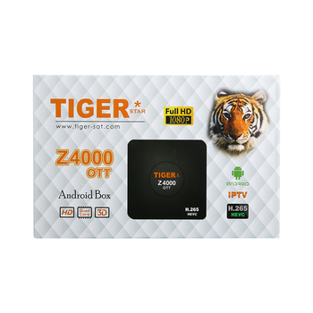 Cheap 4k Tiger Z4000 OTT Best Andriod Smart TV Box with One Year IPTV Server