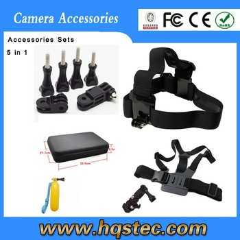 Go pro mount 6 items wholesale cheap go pro accessories for go pro camera,sj4000,sj5000 sport camera