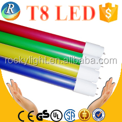 Two side T8 color led lamp