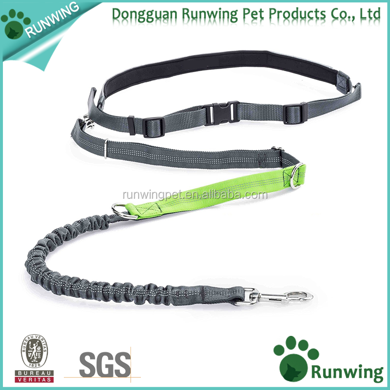 Best Adjustable Reflective Hands free Dog walking running leash with bungee