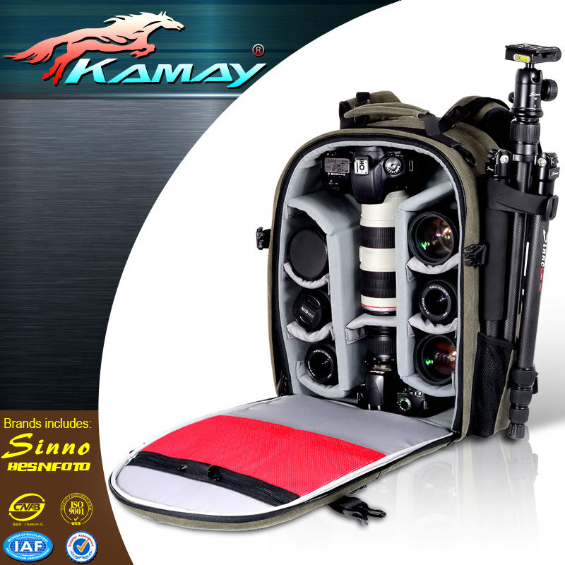 Portable Waterproof DSLR Camera Backpack Bag Pack For Canon Nikon Sony BF-1010