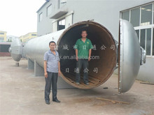 Horizontal double door autoclave machine for industrial mushroom cultivation