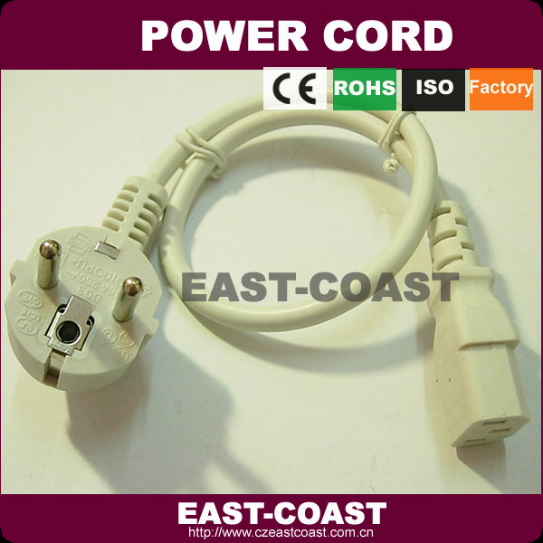 High quality White laptop power cable lead