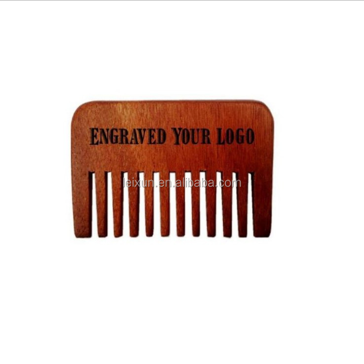 Factory wholesale OEM engraved logo available anti-static rosewood men beard comb