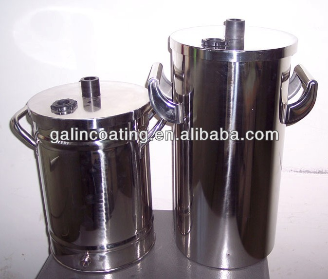 MINI small powder coating hopper barrel powder container