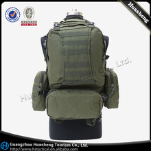 Military Hiking adventure assault large capacity 55L 600D Green mountain top backpack