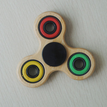 2017 New design wooden or Bamboo fidget / hand spinner/ Hand Fidget toys