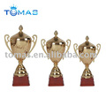 Gold color metal trophy cup with high quality