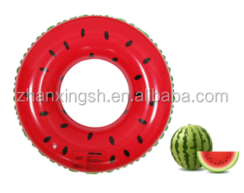 plastic watermelon style inflatable swim ring adult swimming ring on sale