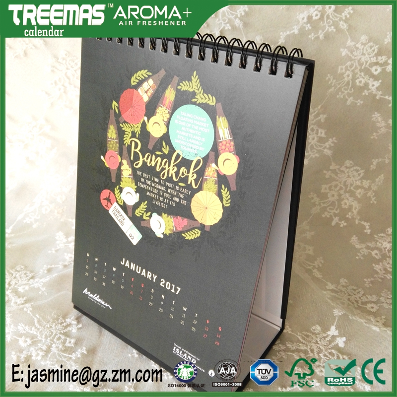 Wholesale english arabic yearly/monthly table innovative calendar2017 /custom printed daily 365 day calendar