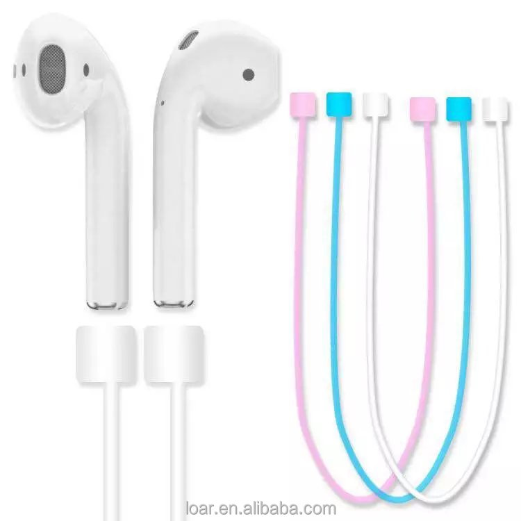 For Apple Airpods Headphones Anti Lost Strap Neck Loop String Rope for Air Pods Earphone Silicon Cable Cord Accessories