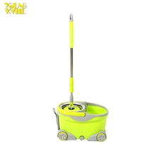 360 easy walkable spin cotton floor mop bucket