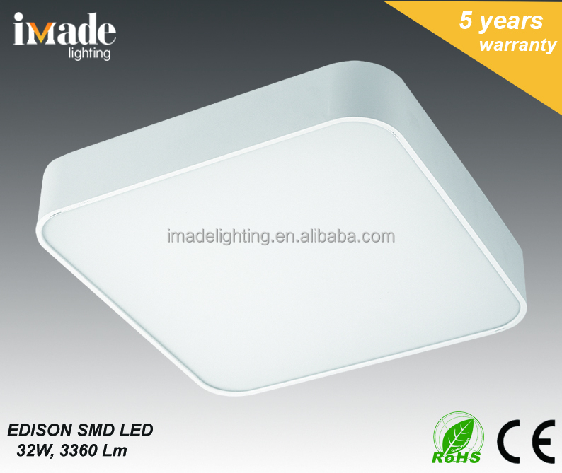 LED ceiling lamp square ship Super bright Aluminum Body high quality SMD LED chip PC diffuser