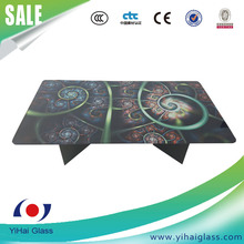 High quality tempered dining table top glass table