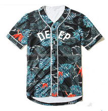 Top quality sublimation custom baseball jersey