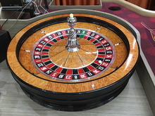 "2017 New arrival casino grade professional solid wood 32"" roulette wheel"