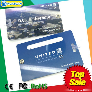 Standard Airline Custom plastic luggage tag