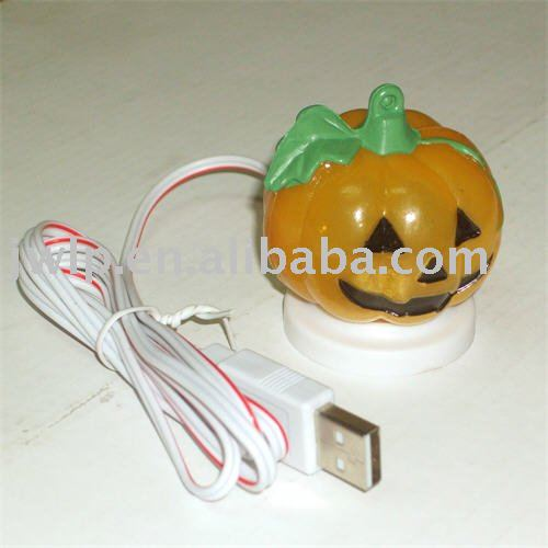 USB 7 color changing pumpkin