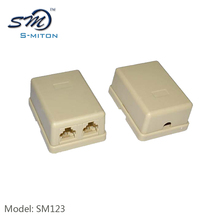 Hot sale telephone RJ11 connection box with 2 X RJ11 sockets