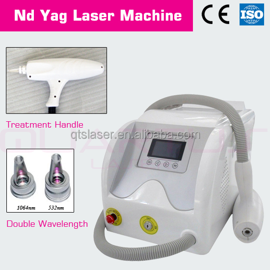 portable q switch nd yag laser machine for tattoo removal and eyebrow 1064/532