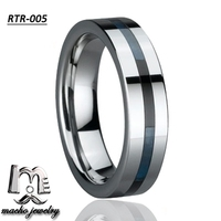 High end resin inlay wholesale nice tungsten ring jewelry turkey