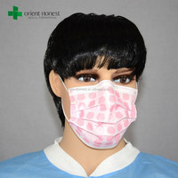 Full face funny dental non woven disposable face mask for hospital in Wuhan