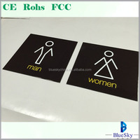 Factory! acrylic stainless steel non lighting toilet signage