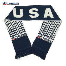 China factory Custom 2018 Football European Cup Fans Scarf