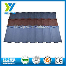 Composite stone coated metal corrugated zinc aluminium roofing tiles