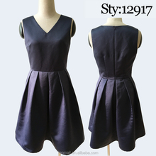 OEM Elegant navy plus size women's clothing wholesale manufacturer made in China
