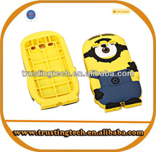 Hot sale 3D Despicable Me minions case for iphone4 4s 5 5G soft silicone back cover for iphone