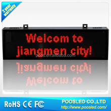 led moving sign display for taxi\led programming sign display\taxi top led display