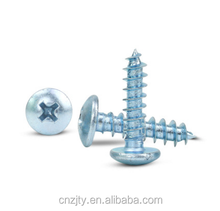 Pan Head Self Tapping Screws for Plastic Galvanized Cross Recessed Fasteners DIN 7981 Zhejiang Manufacture