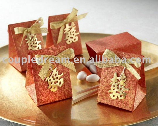 """Double Happiness"" Asian-Themed Favor Box"