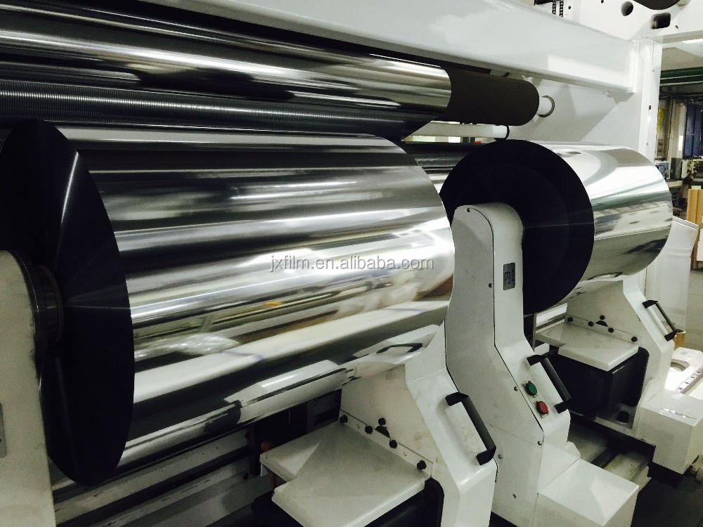 metallized silver bopet cpp bopp transparent polyester film for lamination printing