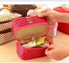 Customize Travel Brush Makeup Bag With Two Compartments