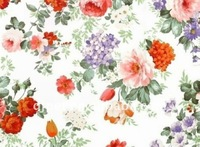 100% polyester flower printed coral fleece fabric