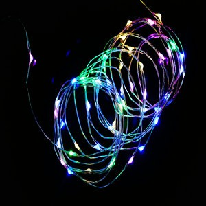 AA Battery Operated 33FT 10M 100 led Christmas Holiday Wedding Party Decoration Festival LED Copper Wire String Fairy Light