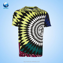Custom sublimation 100% polyester mens 3d t shirt
