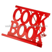 modern wholesale hot sale cheap factory supply metal magazine holder metal cook book stand
