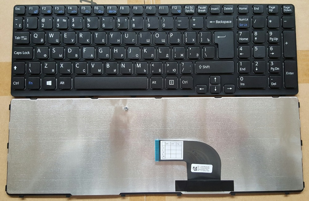 China Manufacture Wired Laptop Computer Keyboard for Sony EA with Russian Layout