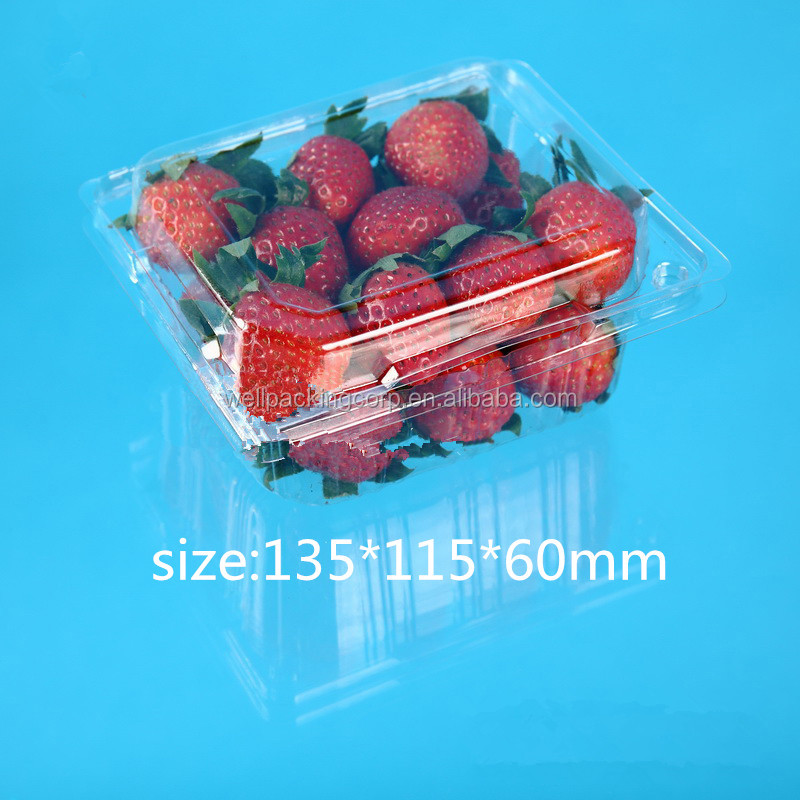 PET plastic fruit transparent packing box for strawberry
