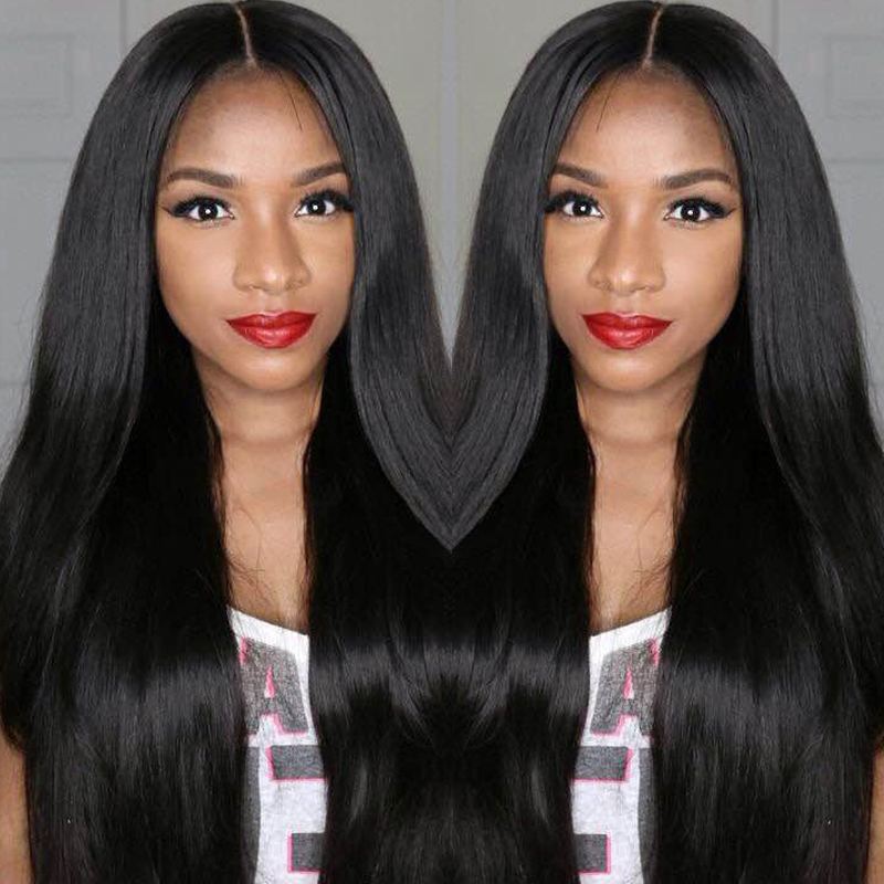 full cuticle peruvian Human remy virgin hair lace front wig with baby hair