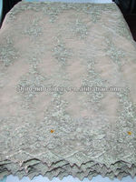 fancy net embroidery fabric design with pearls and stones for dresses, handwork stone embroidery textile