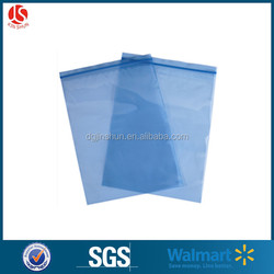 blue color Waterproof disposable bags for packaging with zip