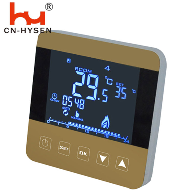 EU DIY Programmable Touch Heating Thermostat Italy Temperature Controller With Child Lock