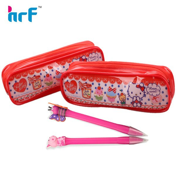 PVC pencil case cute design